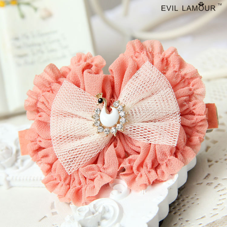 H368 chinese hair accessories Chiffon fabric peacock kids hair accessories headdress hairpin china fashion stock free shipping(China (Mainland))