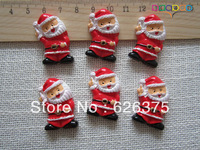 30pcs/lot Wholesale Santa Claus, Resin Flatback Flat Back Cabochons for Embellishment, Hair Bow Center, DIY Free Shipping