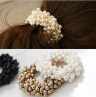 Hot Sale New 2014 Hair Accessories Pearl Headwear For Women Elastic Hairbands F058