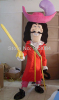 The Captain Hook Peter Pan Christmas Halloween Mascot Costumes Adult Size Free Shipping
