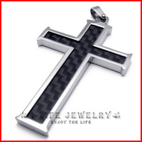 Freeshipping! 316L Stainless Steel Japan Korea Wholesale Cross Pendants Necklaces for Mens with 45cm Ball Chain