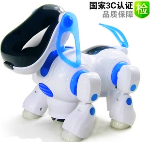 Free shipping Transpace electric dog mechanical dog electric music toy pet machine dog child day gift(China (Mainland))