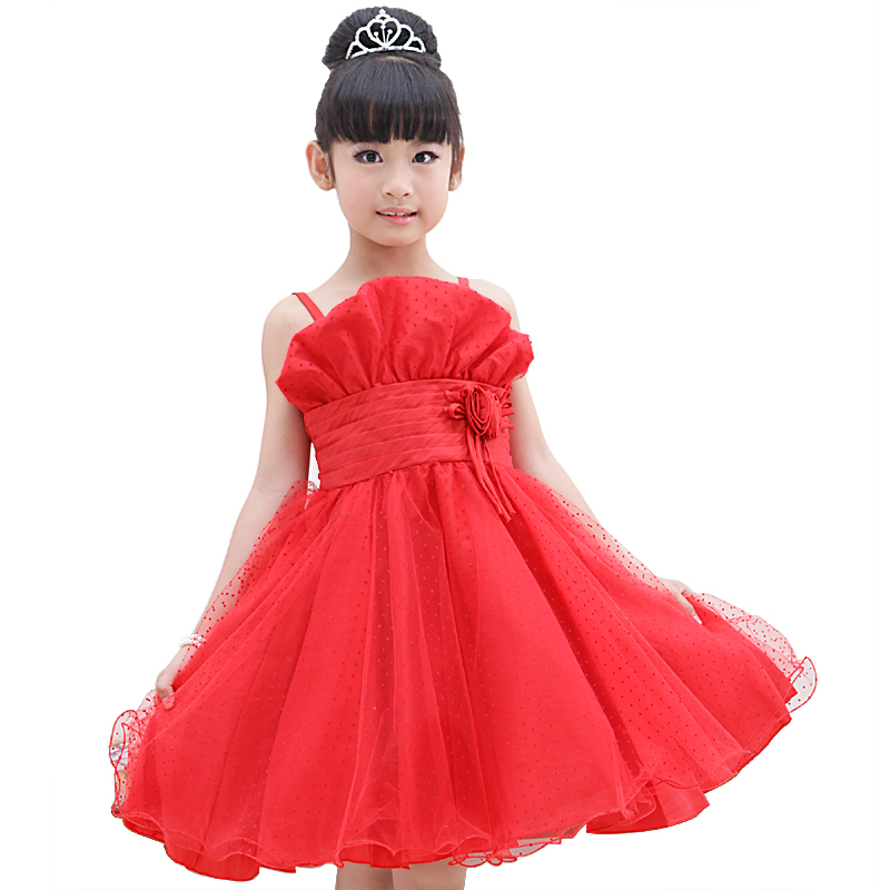 Flower children's clothing 2013 female child summer big boy skirt female child princess dress formal dress wedding dress(China (Mainland))