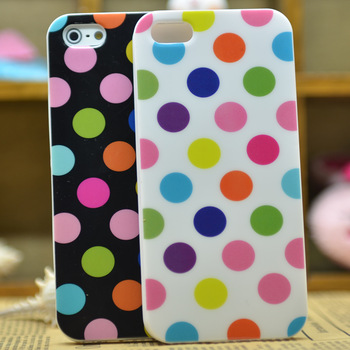 Polka dot  for apple   5 protective case tpu silica gel sets iphone5 phone case cell phone case