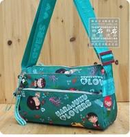 Harajuku valentine doll waterproof nylon multi-layer women's casual messenger bag handbag shoulder bag green mermaid