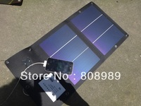High Quality! 6W Flexible Solar Charger 2x3W Foldable Solar Panel Portable Battery Charger/Power Moible Charger Free Shipping