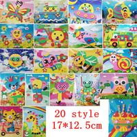 20pcs 3D EVA  Handmade Puzzles,Magical DIY Children Hand Art  Sticker Handicrafts,Game Kids Gift  Kindergarten Teaching Material