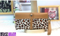 Promotion Free shipping women's Japanese and Korean wave point Leopard grain wallet with belt for women wholesale price