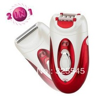 Lady Body Shaver Epilator Hair Remover Dual Function Rechargeable Washable Waterproof Free shipping