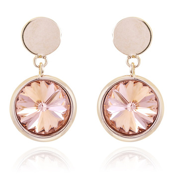 Circle crystal earrings small fresh earrings drop earring valentine day gift female