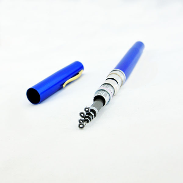 Brand New Telescopic Mini Pen Shape Portable Pocket Aluminum Alloy Fishing Fish Spinning Rod Pole with Reel Free Shipping(China (Mainland))