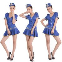 Free shipping Ktv princess clothes ds costume clothes female singer costume ktv work uniforms blue retail & wholesale
