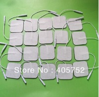 Freeshipping 100pcs/lot  Tens Machine Electrode Pads with cable for full body massager pulse therapy machine pad 4*4cm
