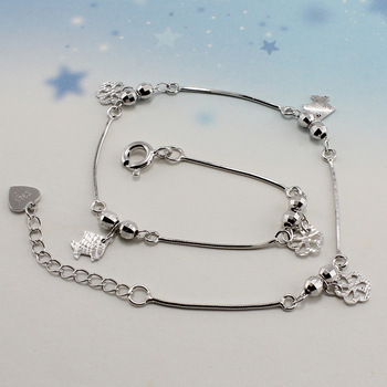 Marine s925 pure silver anklets