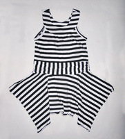 Paul & mary children's clothing female summer stripe 100% cotton one-piece dress princess dress strapless dress 4 - 5