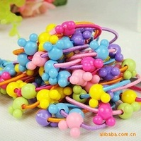 5pcs/lot Sweet Mickey head thin rubber band hair ring hair rope headdress (a string of five)