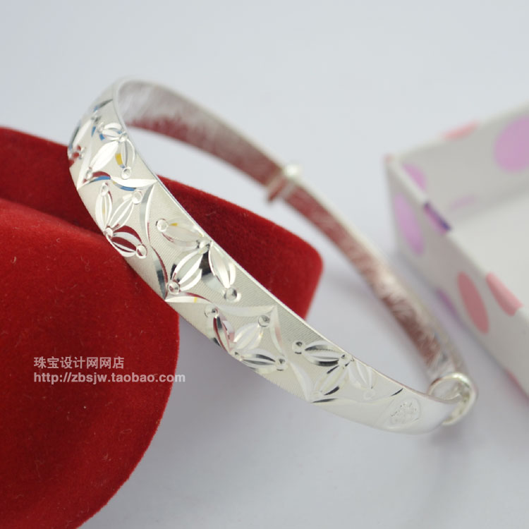 Pure silver platinum bracelet silver jewelry quality elegant weight to send mom(China (Mainland))