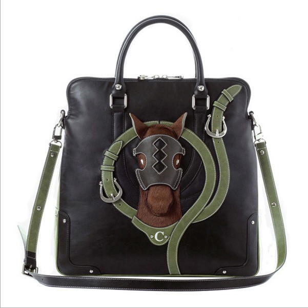 Ladies Genuine leather stereoscopic pony package Shoulder bag vintage brand lapalette Messenger handbags(China (Mainland))