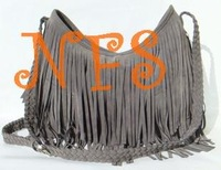Hot sale Suede Fringe Tassel Shoulder Bag women's fashion handbag 4colors