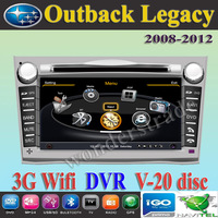 Car DVD Player autoradio GPS  for Subaru Outback Legacy  + 3G WIFI + V-20 Disc + 1GB cpu + DDR 512M RAM + DVR + A8 Chipset
