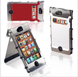 Hot sale The super three anti-protective case for iphone 5 5g, aluminum metal hard case for iphone 5 free shipping