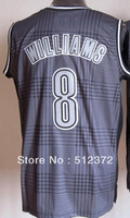 Free Shipping!!! #8 Deron Williams  Rhythm Fashion jersey(Limited Edition) , Embroidered Logo ( all name number stitched!!)