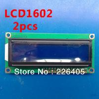2pcs 5V 1602 LCD Module Character Display LCM 16X2 HD44780 Blue Blacklight White words diy