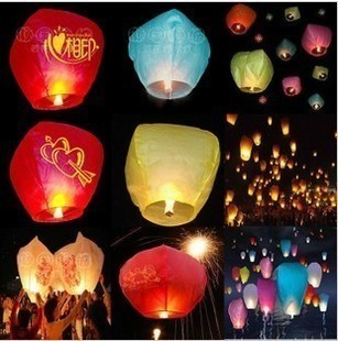 Day lights love wishing lamp lovers gift lotus lamp heart sky lanterns(China (Mainland))