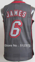 Free Shipping!!! #6 Lebron James  Rhythm Fashion jersey(Limited Edition) , Embroidered Logo ( all name number stitched!!)