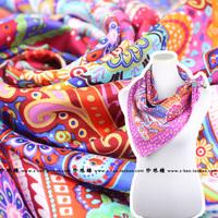 Silk scarf silk scarf women's slanting stripe silk large facecloth decoration