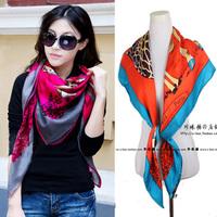 Silk stripe bombonony slanting large facecloth spring silk scarf summer sun cape