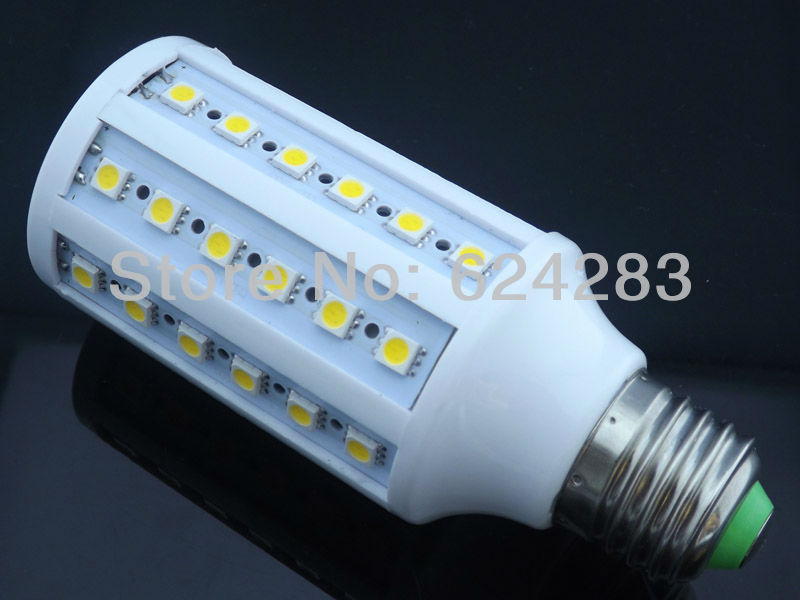 Corn Bulb E27 12W 5050 SMD 60 LED Light Home Bedroom Lamp 110-130V/AC 360 degree High Power Cool| Warm White Free Shipping(China (Mainland))