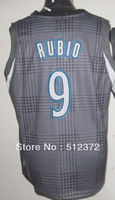 Free Shipping!!! #9 Ricky Rubio Rhythm Fashion jersey(Limited Edition) , Embroidered Logo ( all name number stitched!!)
