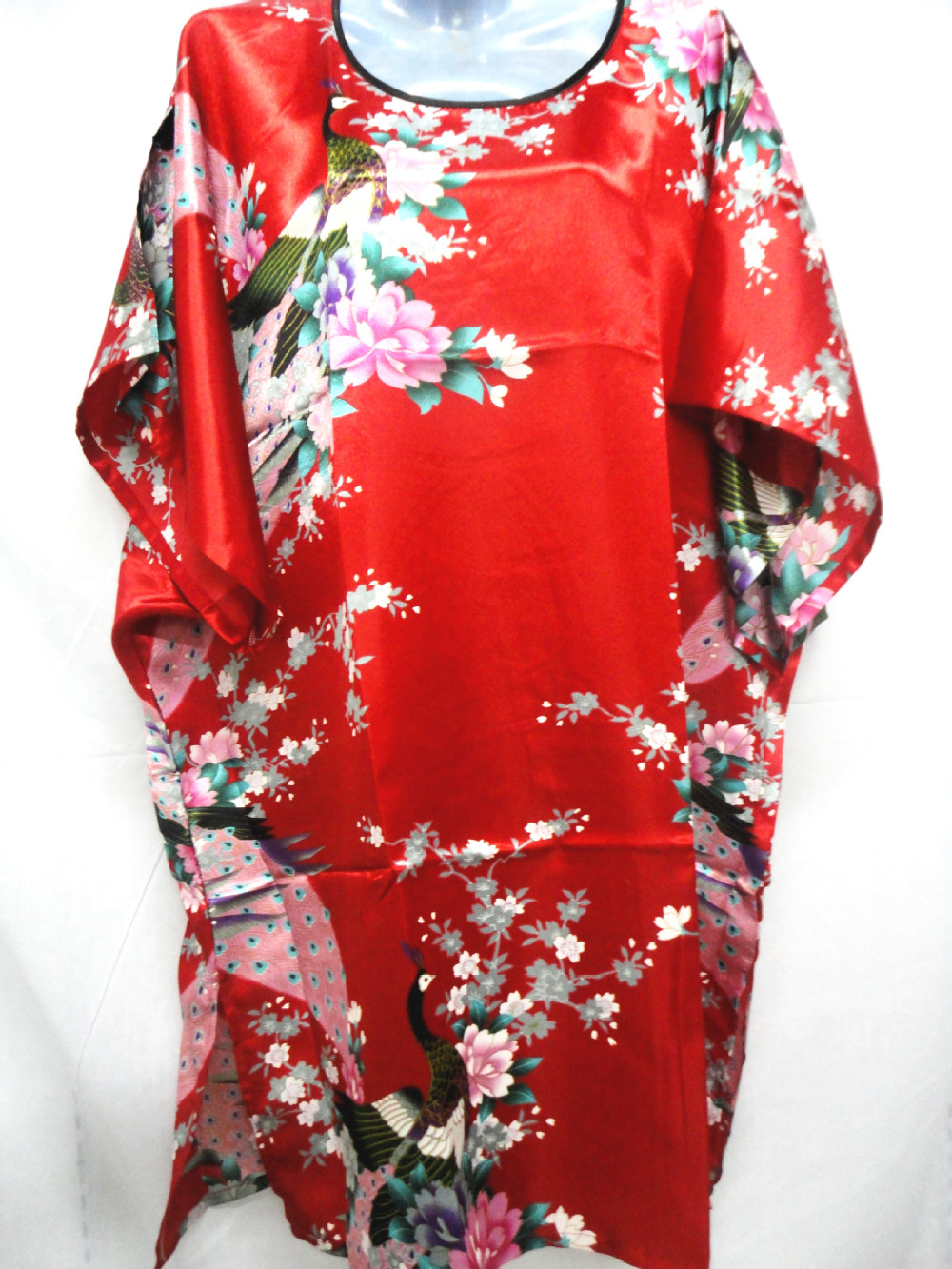 Women pajamas super big sexy is not seduce imitation silk(China (Mainland))