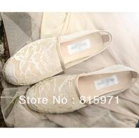 Free shipping women summer lace shoes europe style fashio flat heels shoes 186