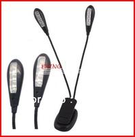 Wholesale Music Stand light ,Clip On LED Book Light for Kindle/Nook Color,2 Arm 8 LED Ebook lights