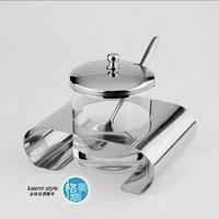 Stainless steel spice jar sambonet sucrier spice jar multithread sugar bowl sauce pot
