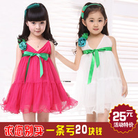Children's clothing female child skirt 2013 summer female child suspender skirt child princess dress tulle dress female child