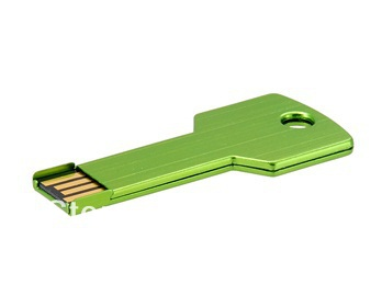 Free Shipping Metal Key USB Flash Memory Drive 4GB 8GB 16GB Green 10pcs/lot