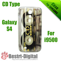 2013, Hot CD Type Series, Plastic Cassette, hard case for Samsung Galaxy S4 i9500, free Shipping, Galaxy S IIII case, Back Cover
