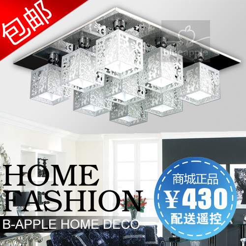 Quality acrylic ornamental engraving glass ceiling light living room lights ceiling light ceiling light(China (Mainland))