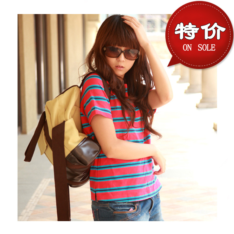 Free shipping 2013 spring canvas backpack student school bag personality girls bags casual backpack(China (Mainland))