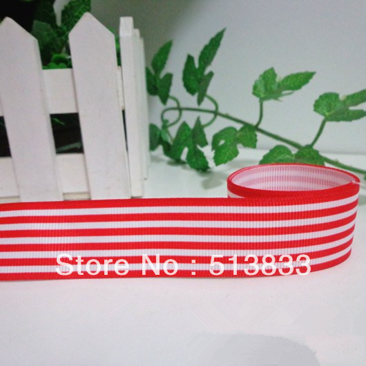 "7/8"" inch (22mm) Red Color & Black Pinstripe Printing Grosgrain Ribbon Free Shipping DW073(China (Mainland))"