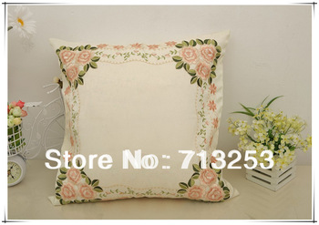 NO.107  free shipping new floral fashion luxury beautiful cheap pillow case for living loom sofa bed and car