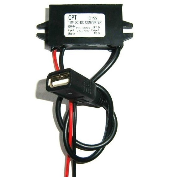 Free shipping,3pcs DC 12V TO USB Output 5V 3A Converter Step Down Car Power Module USB Adapter(China (Mainland))