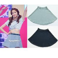 Aom GIRLS GENERATION aa american apparel denim short skirt a full skirt
