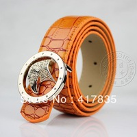 Free Shipping 2013 new hot fashion Eagles head woman leather belt 100% GENUINE retro PU leather men belt