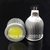 Free shipping 12V AC/DC dimmable 9W MR16 GU5.3 COB LED lamp light led Spotlight White/Warm white led lighting