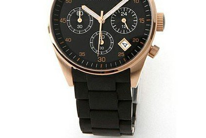 100% Authentic wristwatches AR5906 BLACK Retail CHRONOGRAPH WATCH with original box(China (Mainland))