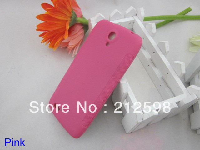 500 pcs/lot , DHL FREE SHIPPING, Anti-slip Matt TPU Case for Lenovo S820 , 4 colors(China (Mainland))